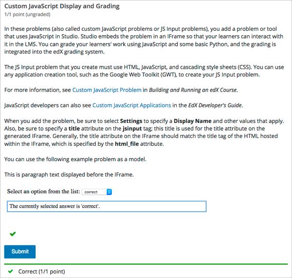118 Custom Javascript Display And Grading Problem Edx Open