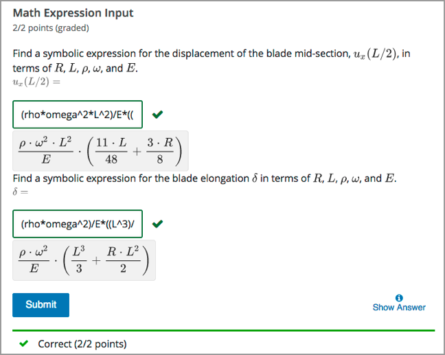 1119 Math Expression Input Problems Edx Open Learning Xml Guide