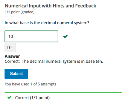 10 28  Numerical Input Problem — Building and Running an edX