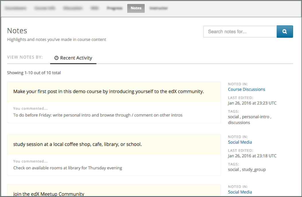 10 27  Notes Tool — Building and Running an edX Course documentation