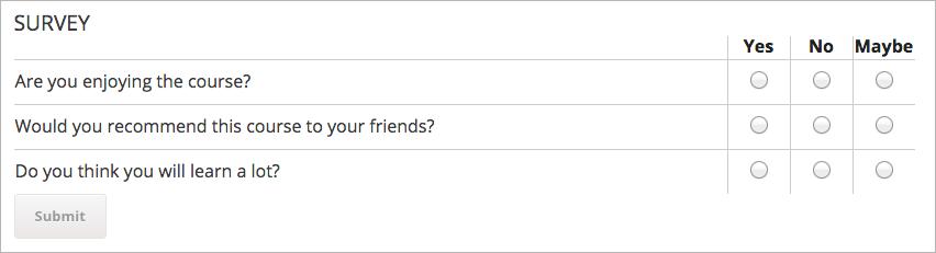 multiple choice questionnaire template