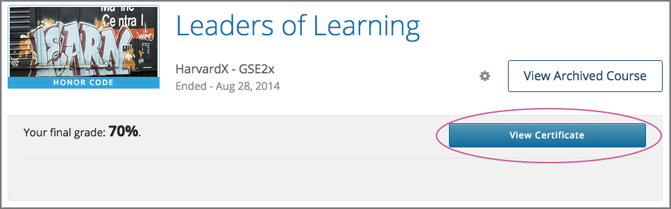 8. Getting a Course Certificate or Badge — Open edX Learner\'s Guide ...