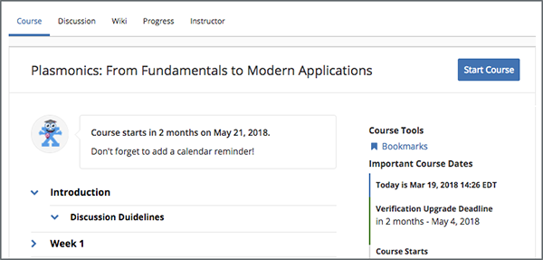 6 Starting A Course Open EdX Learners Guide Documentation