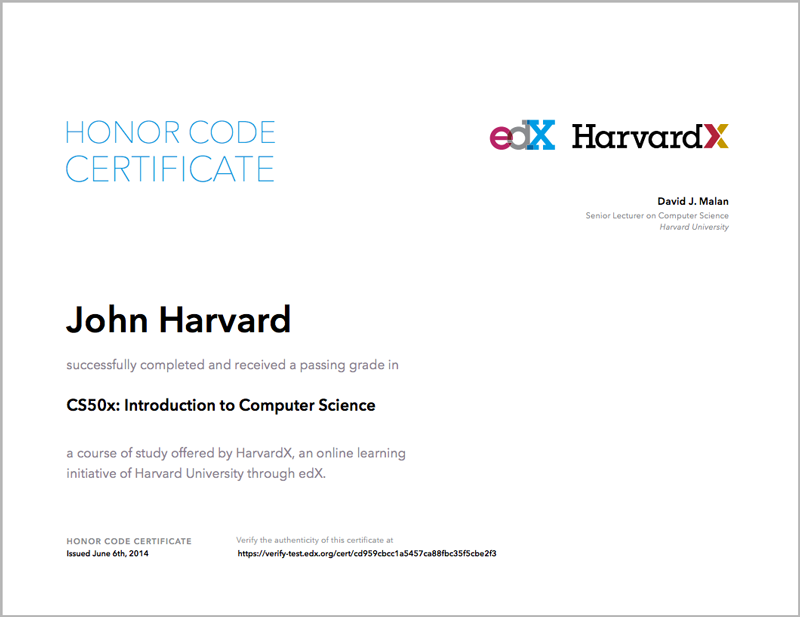 9. Certificates — Open edX Learner\'s Guide - Cypress Release ...